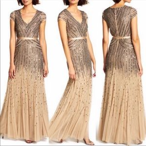 Adrianna-Papell long evening Gown